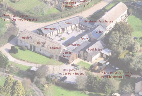 Aerial View of Berehayes Holiday Cottages
