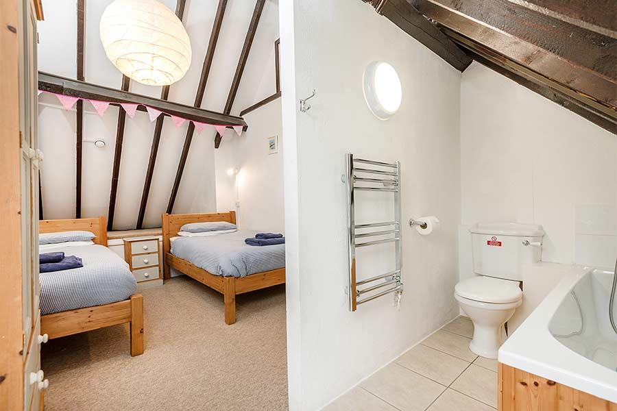 Bedroom and En Suite in Hayloft