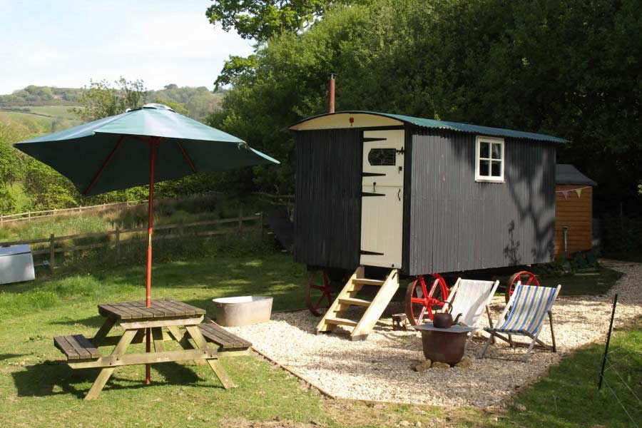 Outside Seating Area of Shepherds Hut