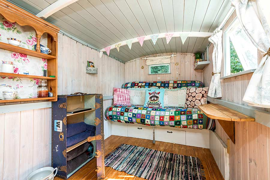 Interior of Shepherds Hut