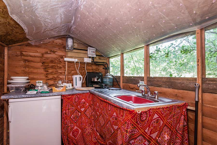 Self Catering Area in Shepherds Hut