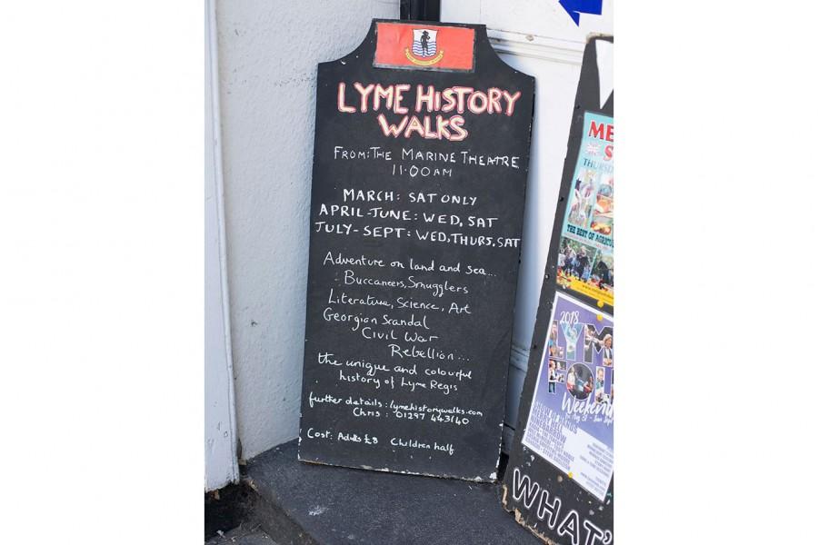 Seaside Walks available from Lyme regis